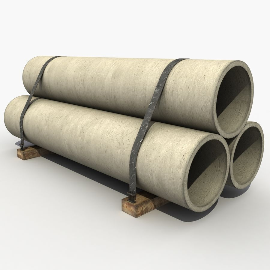 Pipe Barrier royalty-free 3d model - Preview no. 2