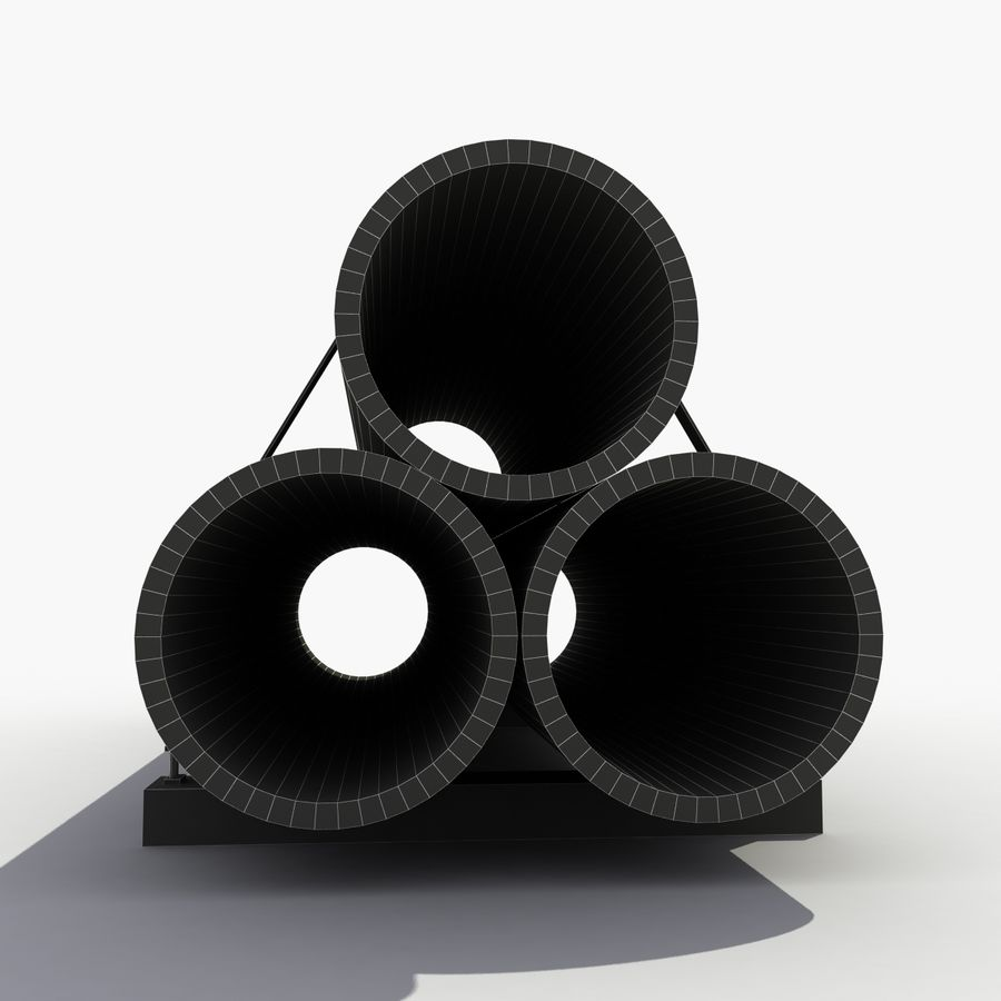 Pipe Barrier royalty-free 3d model - Preview no. 9