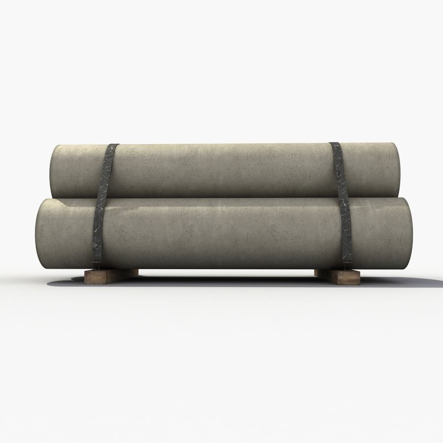 Pipe Barrier royalty-free 3d model - Preview no. 4