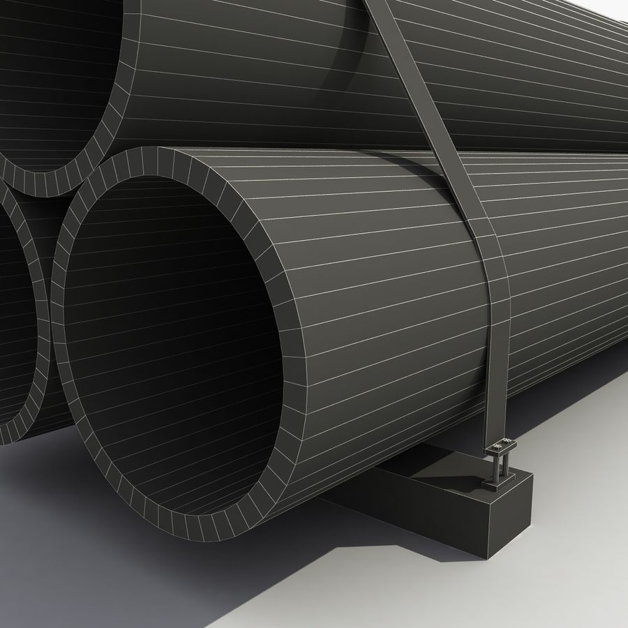 Pipe Barrier royalty-free 3d model - Preview no. 10