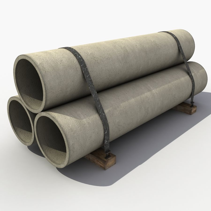 Pipe Barrier royalty-free 3d model - Preview no. 3