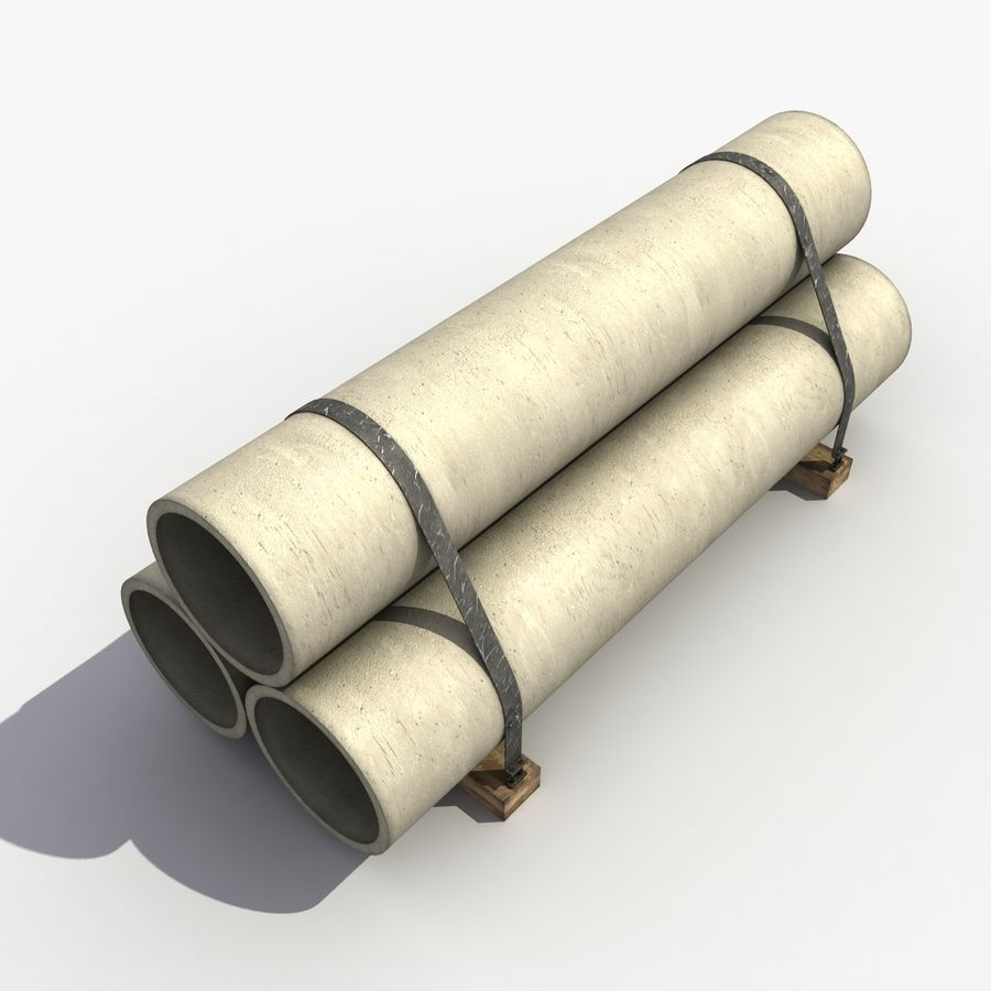 Pipe Barrier royalty-free 3d model - Preview no. 6