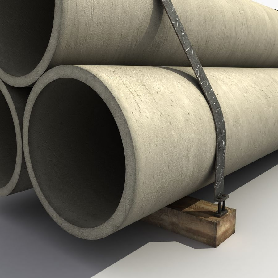 Pipe Barrier royalty-free 3d model - Preview no. 7