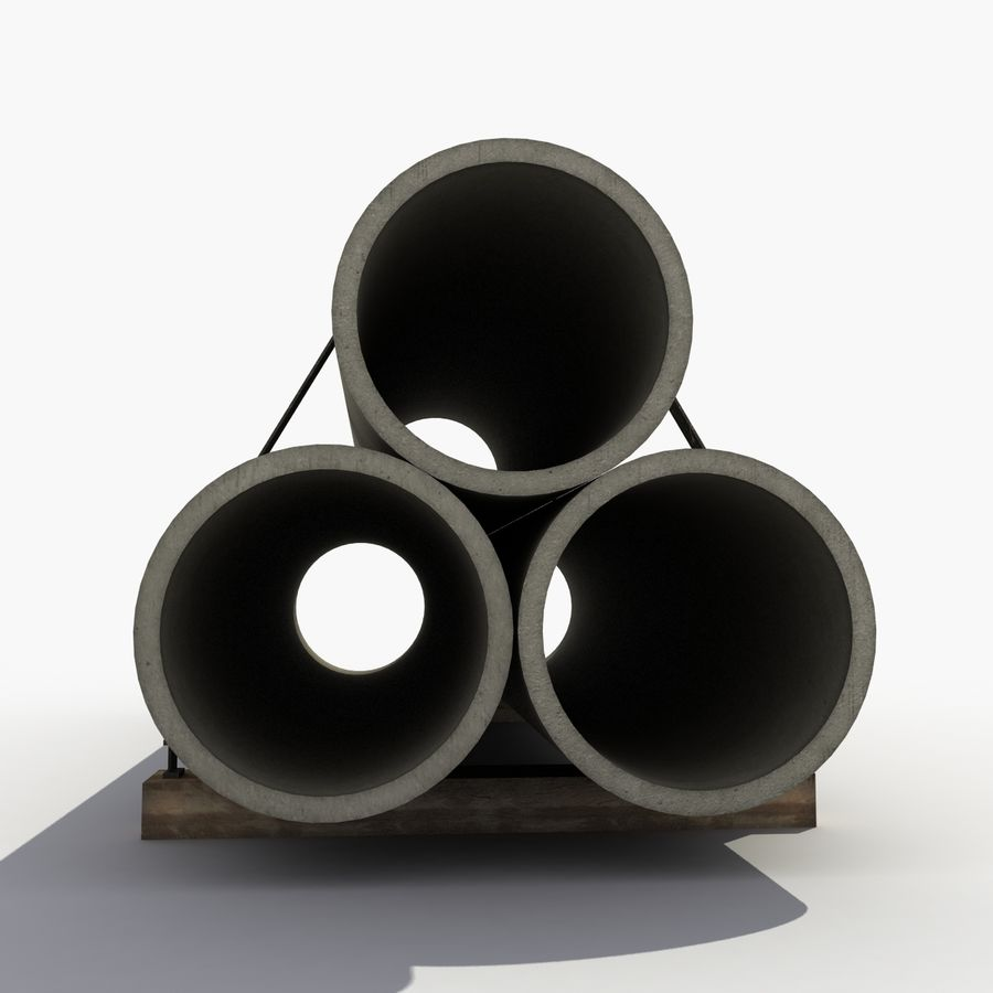 Pipe Barrier royalty-free 3d model - Preview no. 5