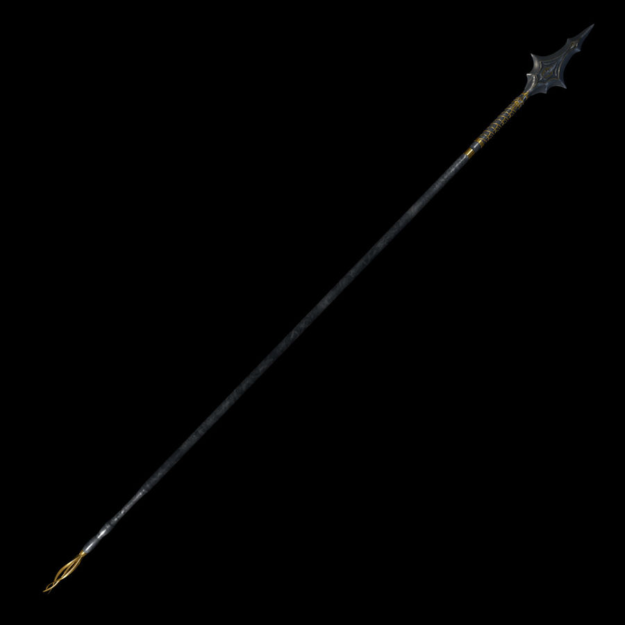 Ancient spear royalty-free 3d model - Preview no. 3