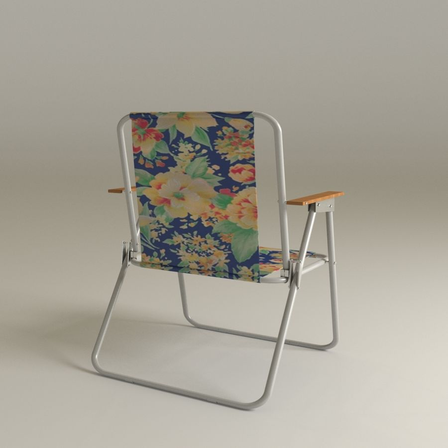 Camp chair royalty-free 3d model - Preview no. 1