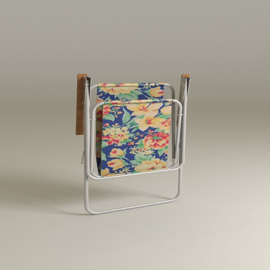 Camp chair royalty-free 3d model - Preview no. 3