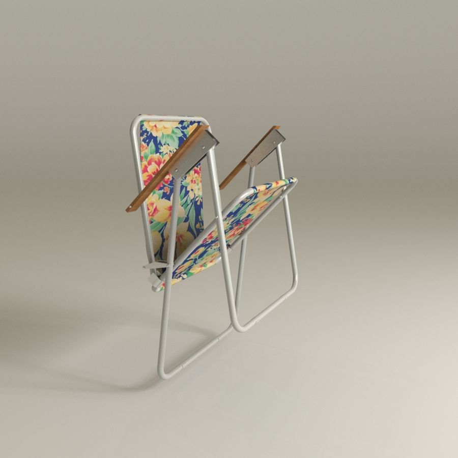 Camp chair royalty-free 3d model - Preview no. 2