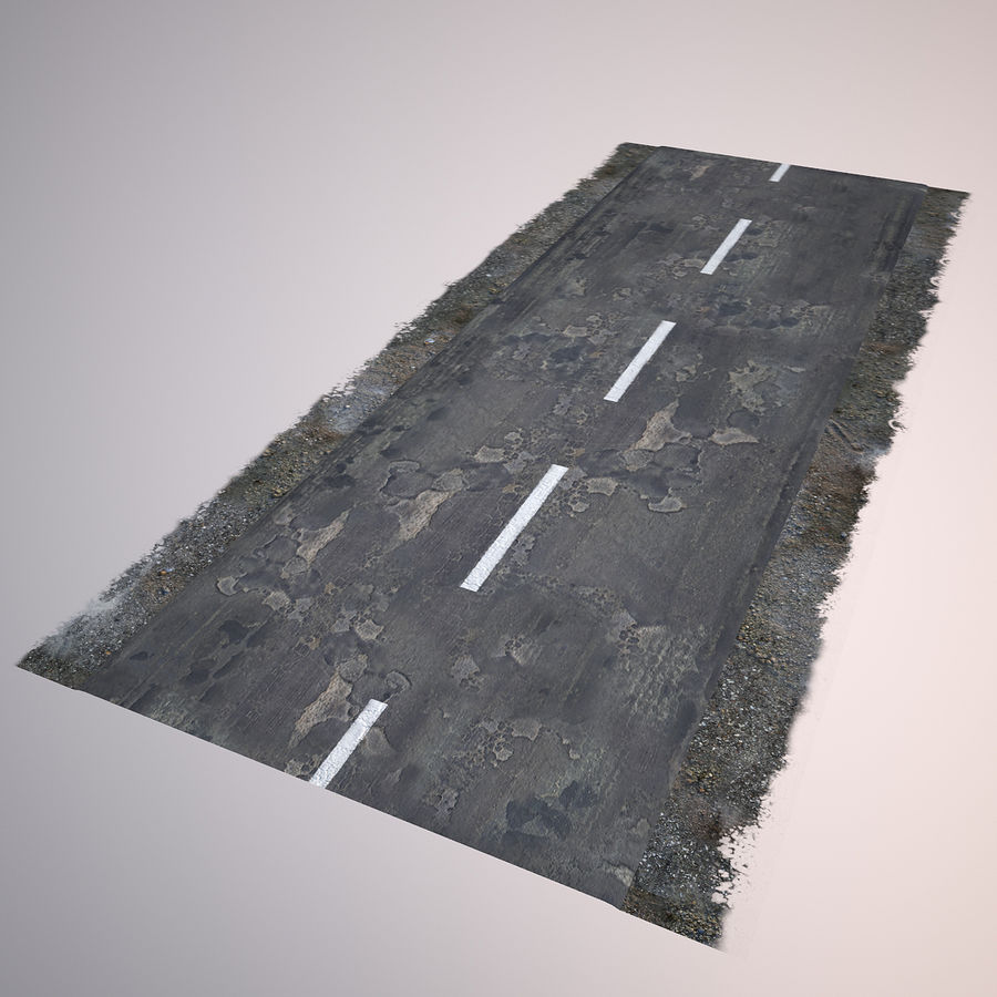Damaged Road royalty-free 3d model - Preview no. 5