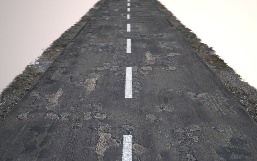 Damaged Road royalty-free 3d model - Preview no. 11