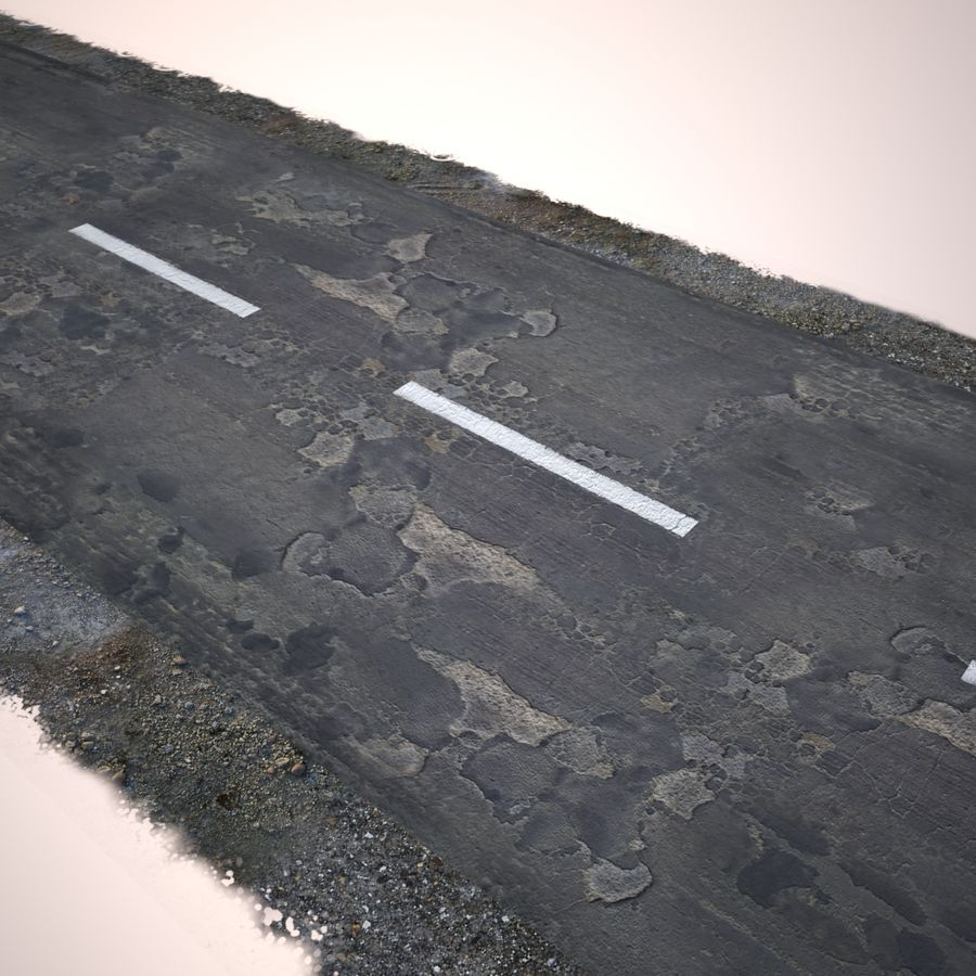 Damaged Road royalty-free 3d model - Preview no. 13