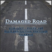 Damaged Road 3d model