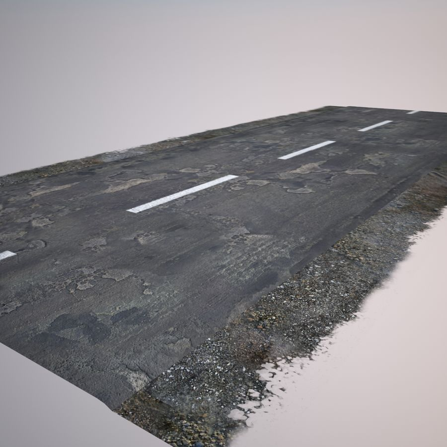 Damaged Road royalty-free 3d model - Preview no. 12