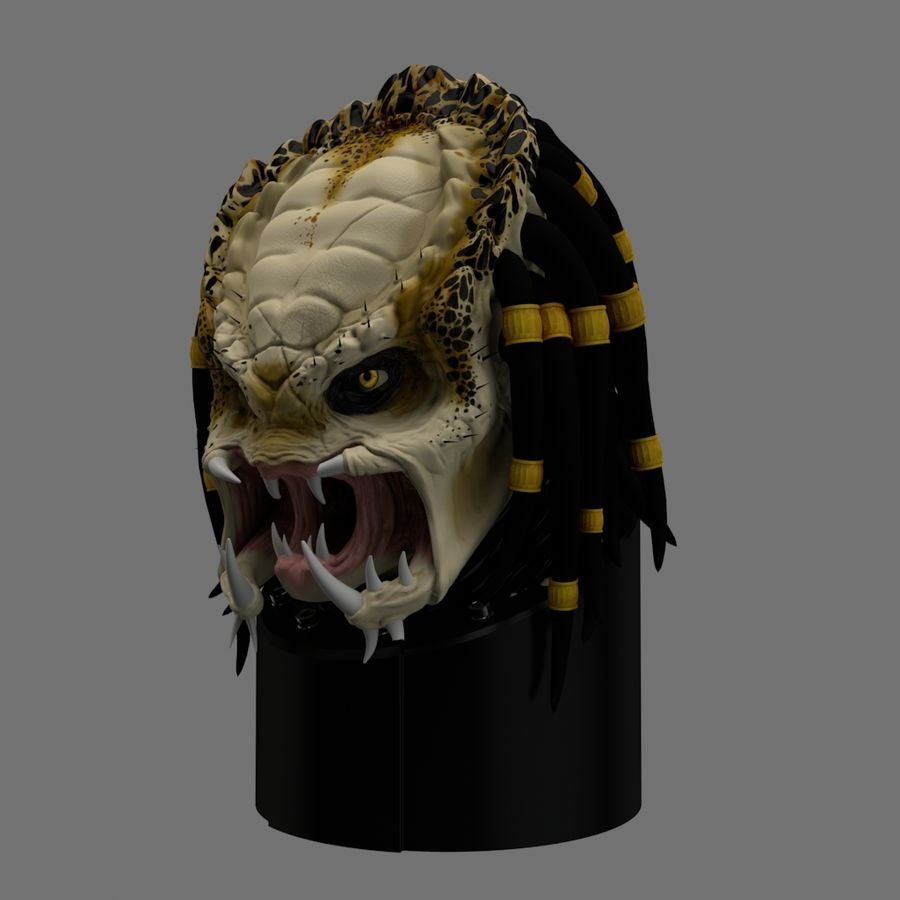 Predator Head 3D Model $49 -  obj  c4d - Free3D