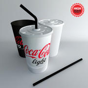 Tumblers with Straw 3d model