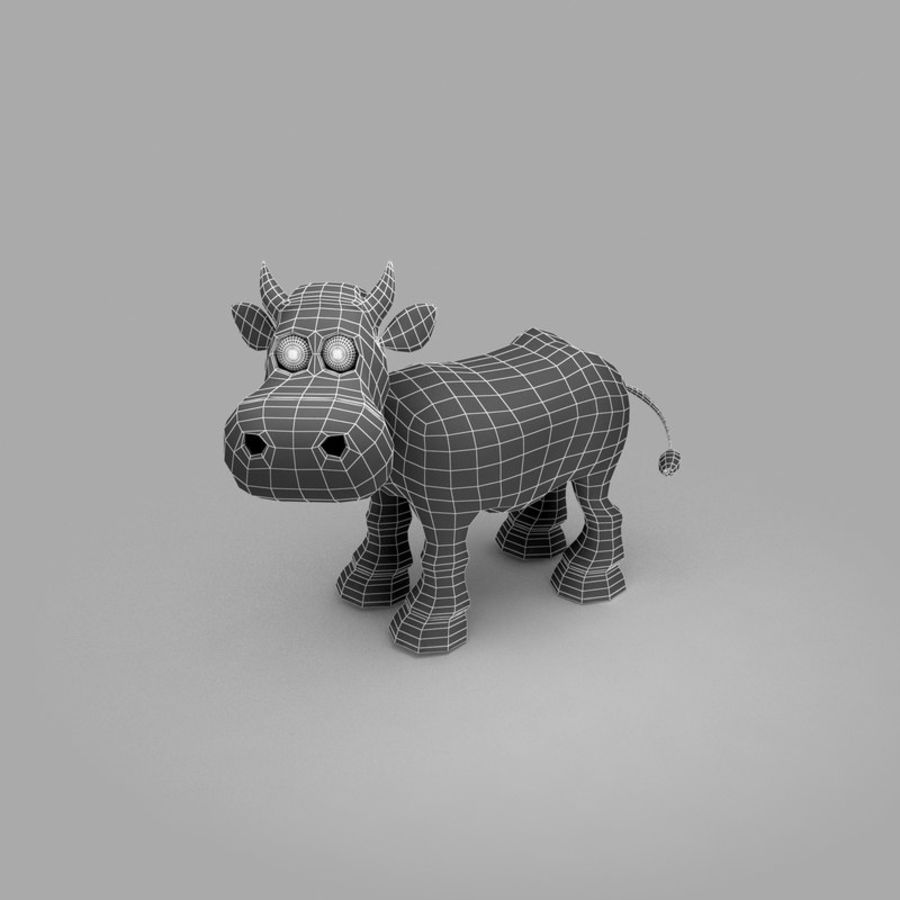 Cow royalty-free 3d model - Preview no. 8