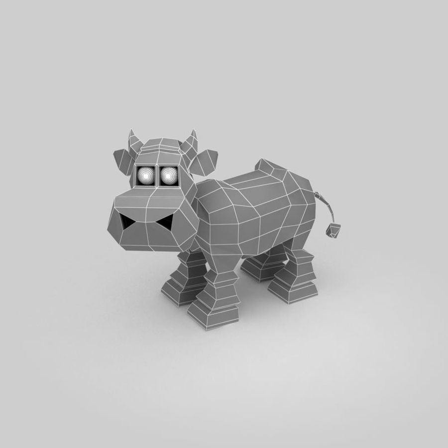 Cow royalty-free 3d model - Preview no. 9