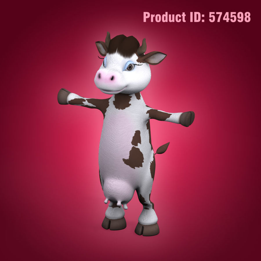 Cow royalty-free 3d model - Preview no. 12