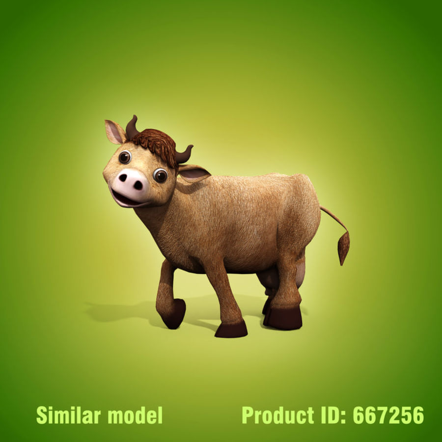 Cow royalty-free 3d model - Preview no. 11