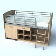 Loft Bed 3d model