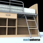 Кровать-чердак 3d model