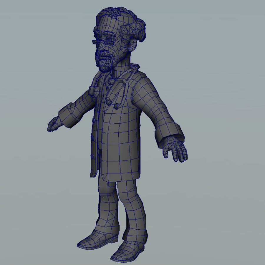 doctor royalty-free 3d model - Preview no. 11