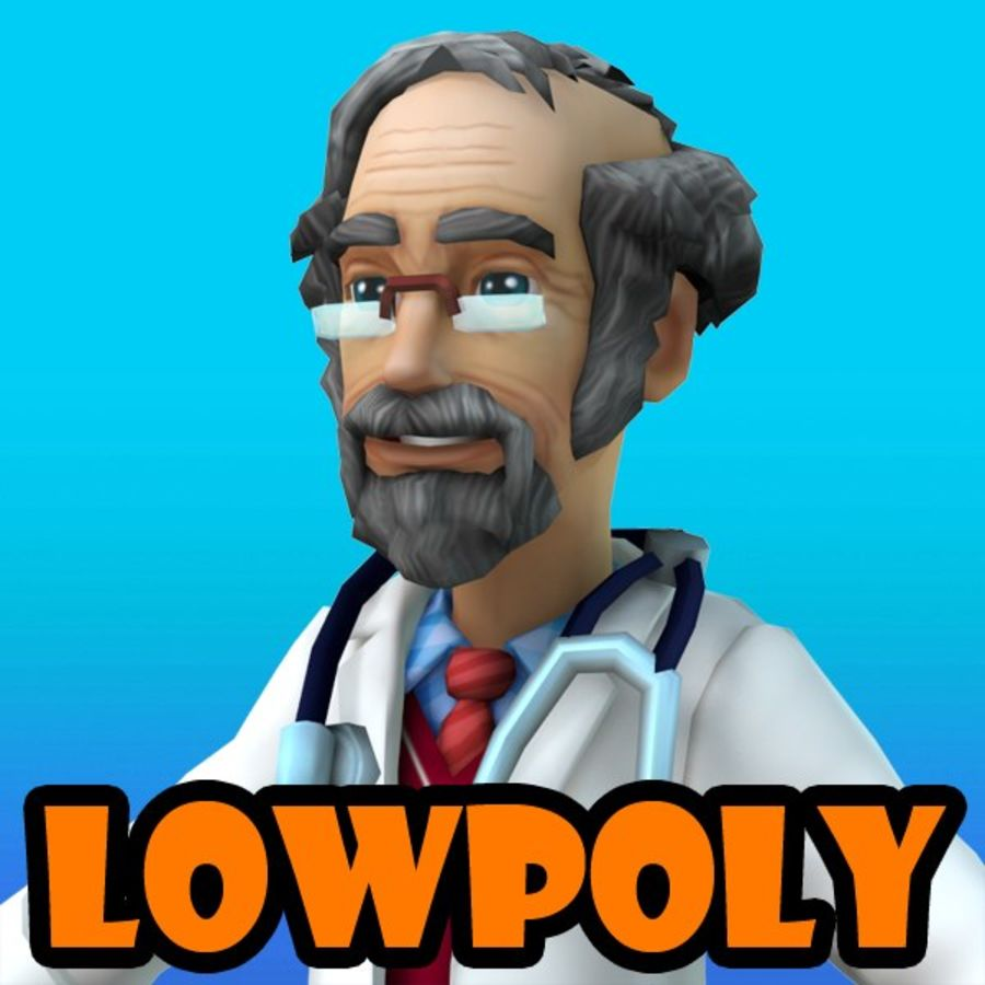 doctor royalty-free 3d model - Preview no. 1