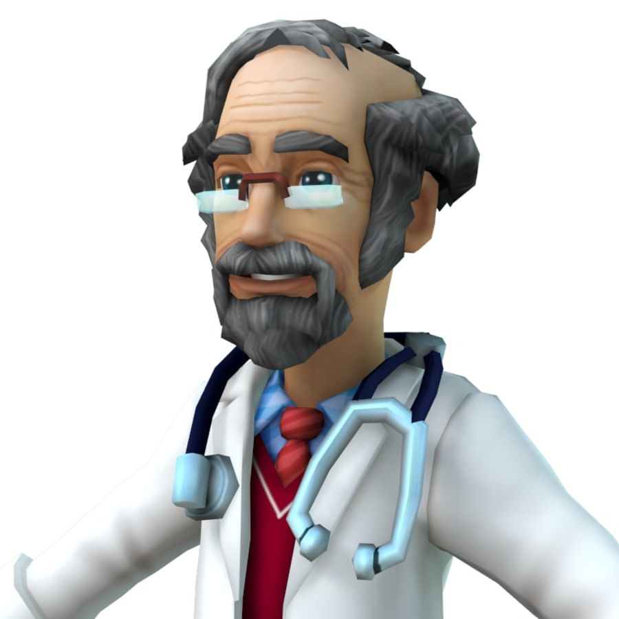 doctor royalty-free 3d model - Preview no. 2