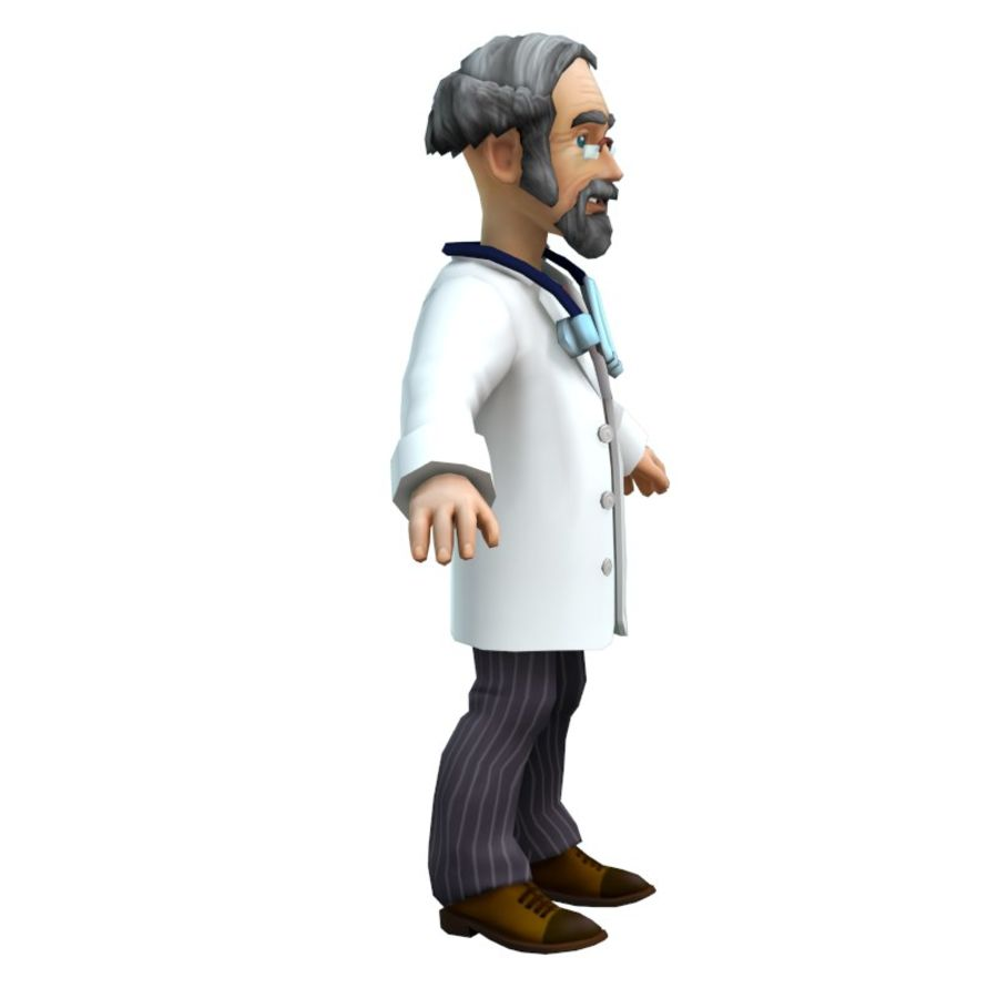 doctor royalty-free 3d model - Preview no. 14