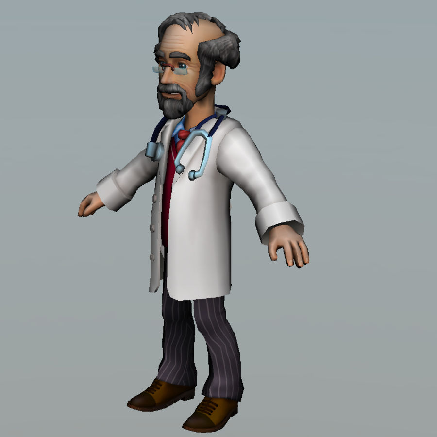 doctor royalty-free 3d model - Preview no. 10