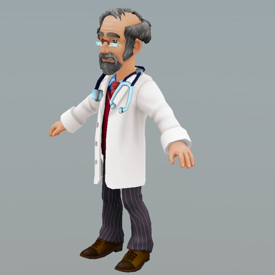 doctor royalty-free 3d model - Preview no. 9
