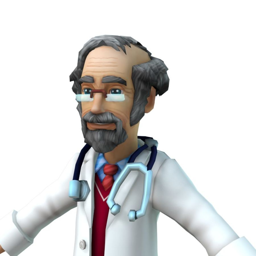doctor royalty-free 3d model - Preview no. 13