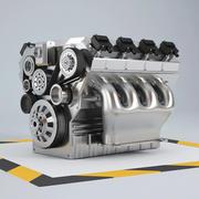 車のエンジン 3d model
