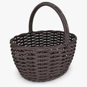 Wicker Basket (Espresso) 3d model