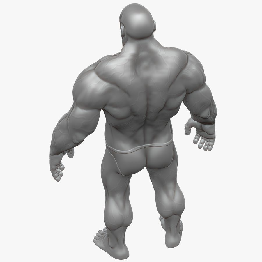 Muscular Man 2 Zbrush Sculpt  (UVed) royalty-free 3d model - Preview no. 17