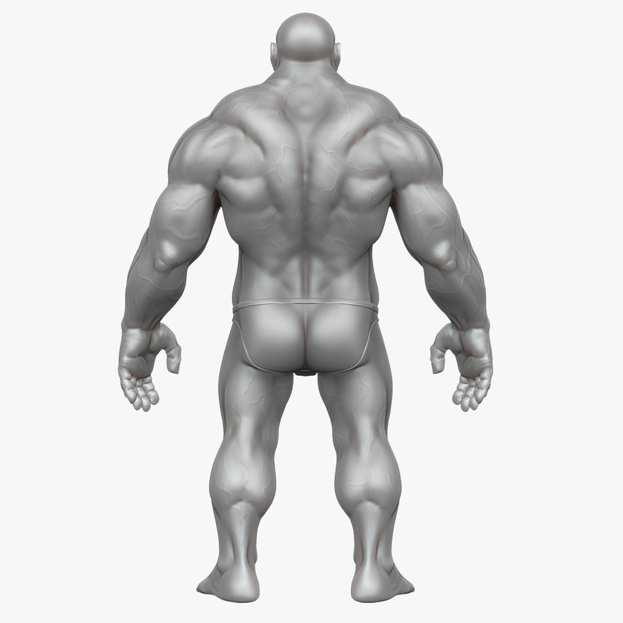 Muscular Man 2 Zbrush Sculpt  (UVed) royalty-free 3d model - Preview no. 27