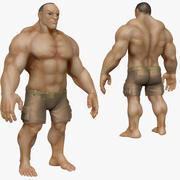 Muscular Man 2 Zbrush Sculpt  (UVed) 3d model