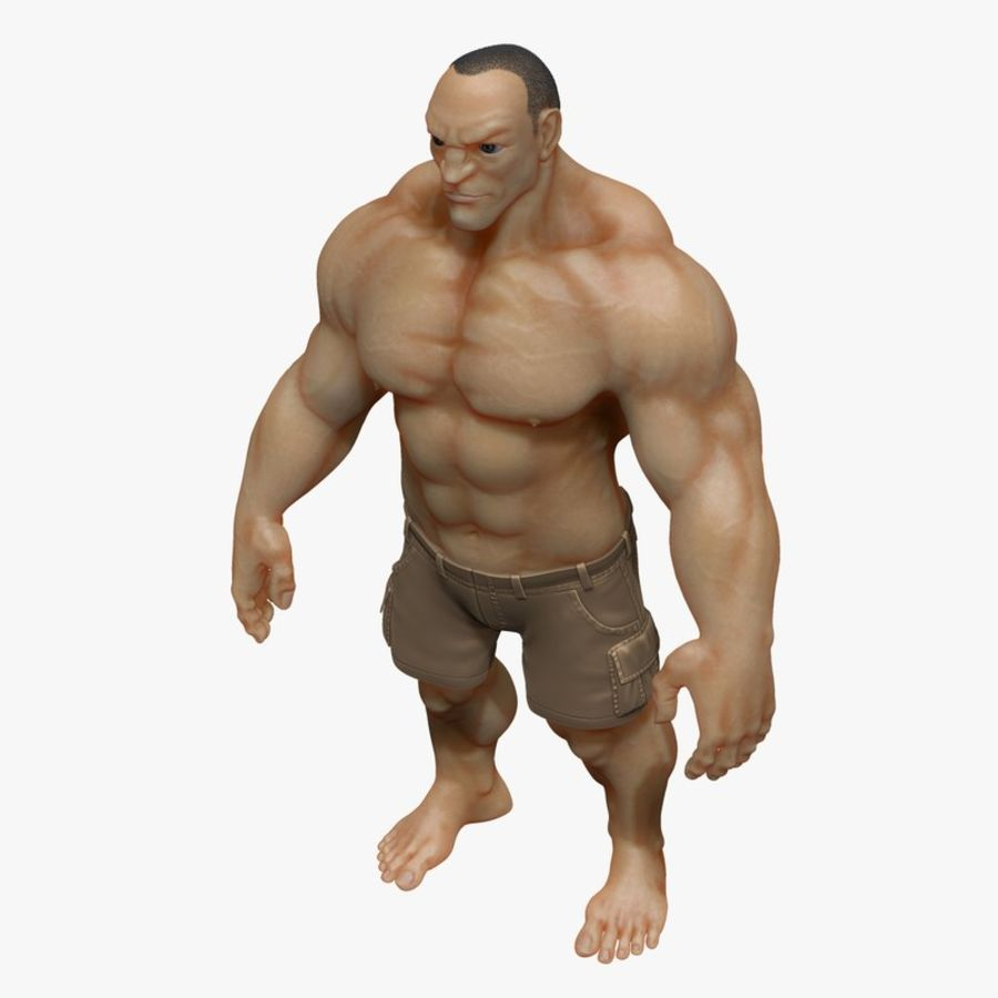 Muscular Man 2 Zbrush Sculpt  (UVed) royalty-free 3d model - Preview no. 2