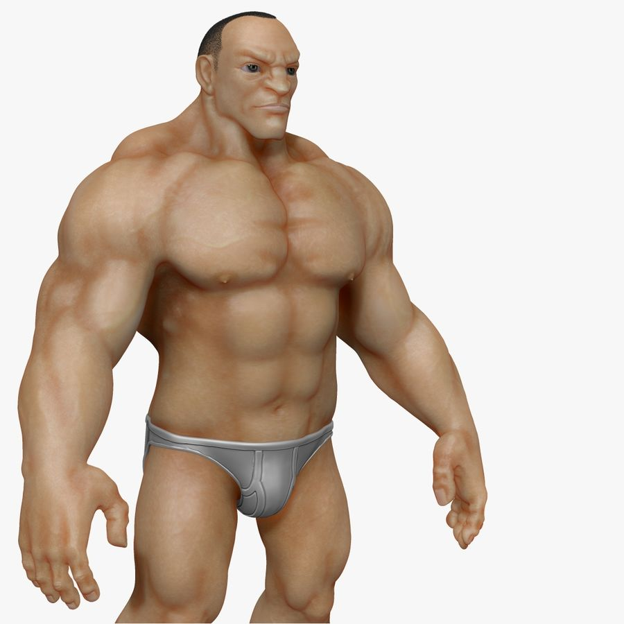 Muscular Man 2 Zbrush Sculpt  (UVed) royalty-free 3d model - Preview no. 9