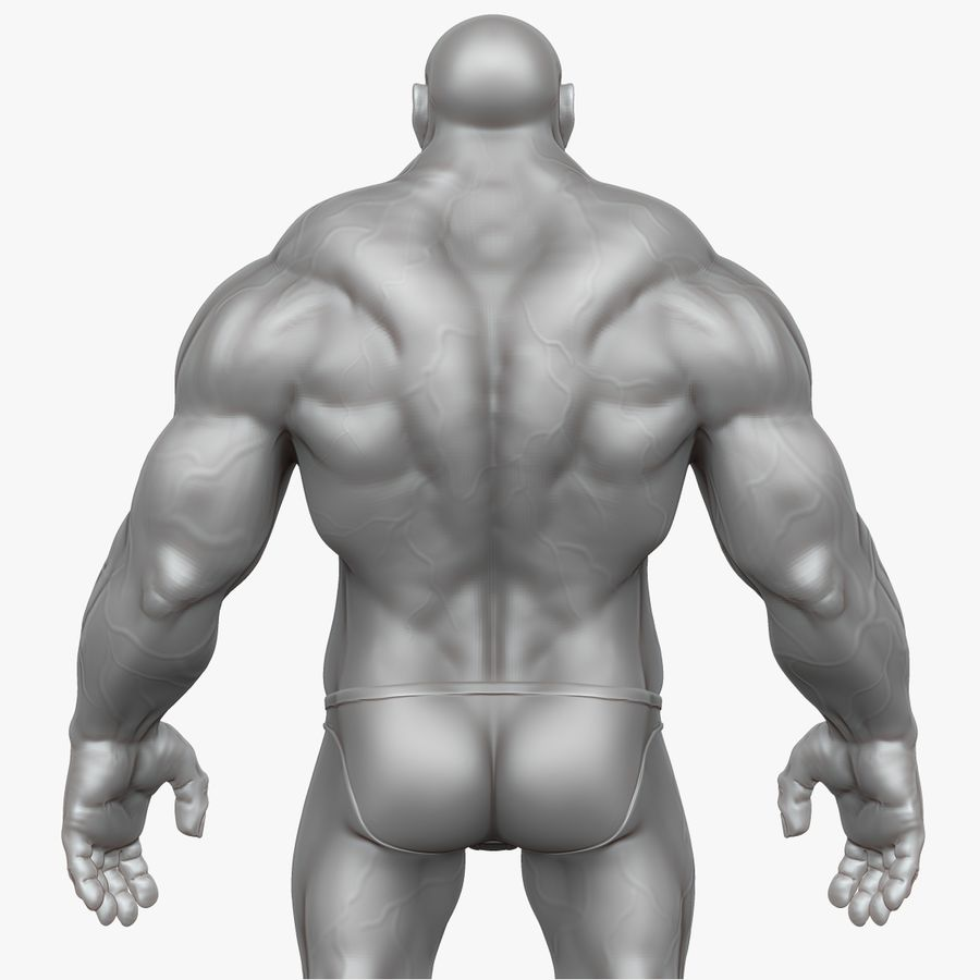Muscular Man 2 Zbrush Sculpt  (UVed) royalty-free 3d model - Preview no. 19