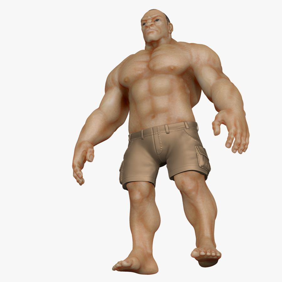 Muscular Man 2 Zbrush Sculpt  (UVed) royalty-free 3d model - Preview no. 3
