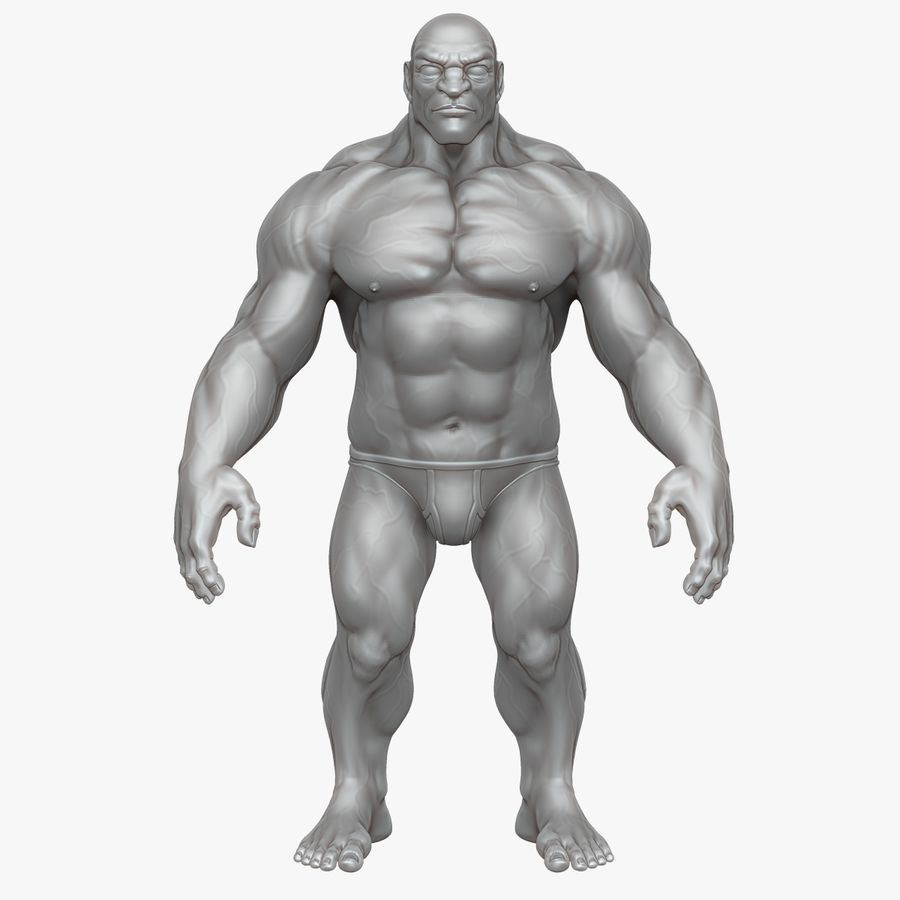 Muscular Man 2 Zbrush Sculpt  (UVed) royalty-free 3d model - Preview no. 26
