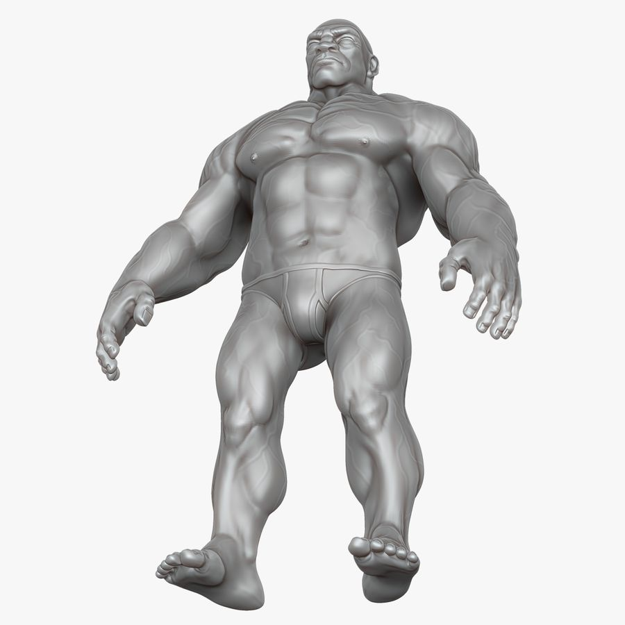 Muscular Man 2 Zbrush Sculpt  (UVed) royalty-free 3d model - Preview no. 25