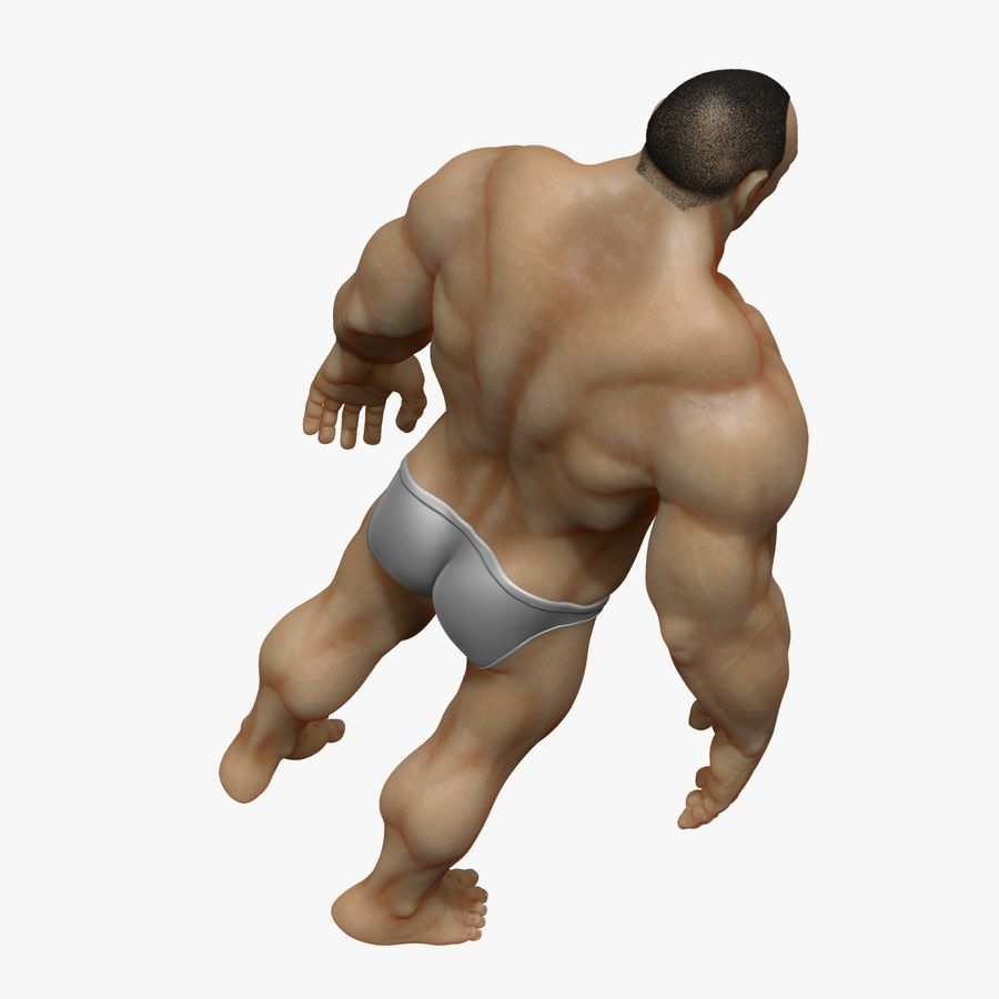Muscular Man 2 Zbrush Sculpt  (UVed) royalty-free 3d model - Preview no. 8