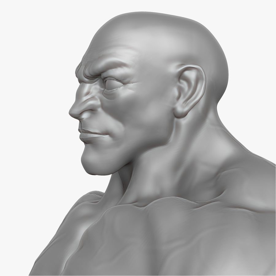 Muscular Man 2 Zbrush Sculpt  (UVed) royalty-free 3d model - Preview no. 21