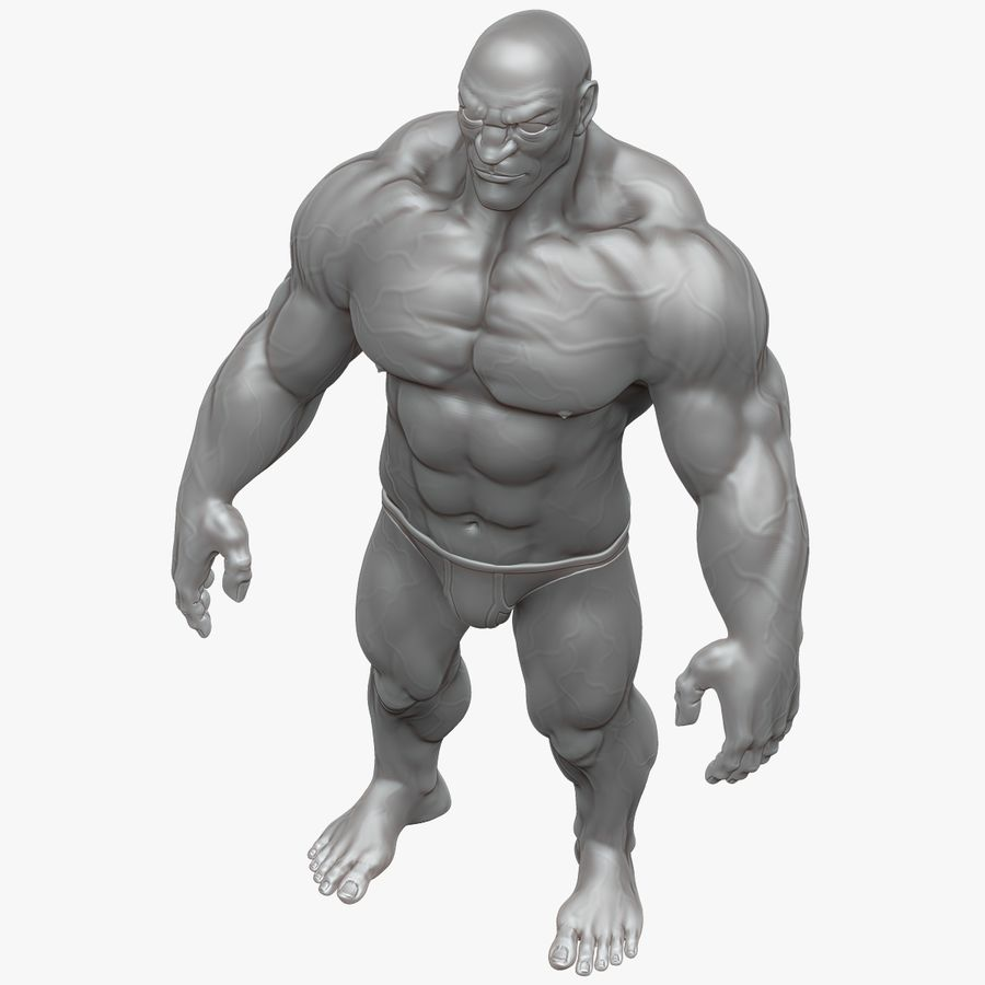 Muscular Man 2 Zbrush Sculpt  (UVed) royalty-free 3d model - Preview no. 16