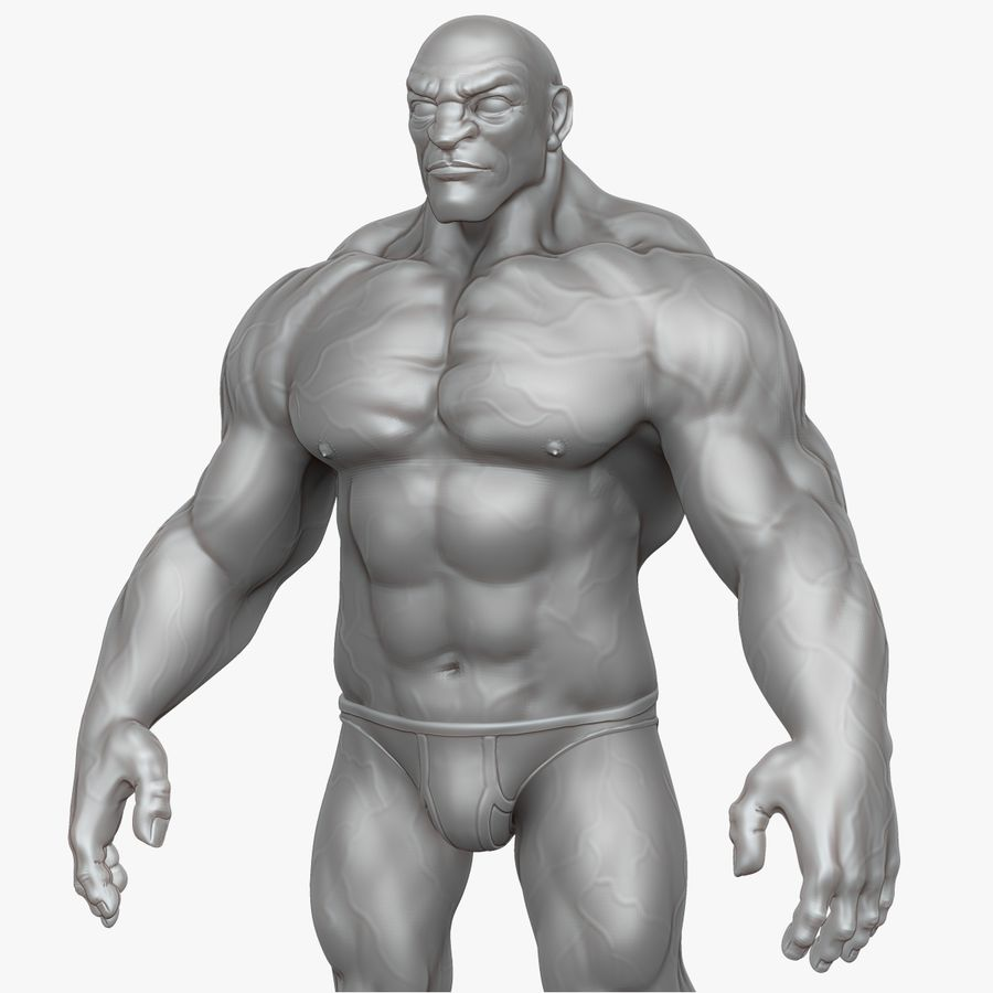 Muscular Man 2 Zbrush Sculpt  (UVed) royalty-free 3d model - Preview no. 18