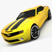 Chevrolet Camaro 2009 ( Convertible Concept ) Low Interior (Bumblebee) 3d model