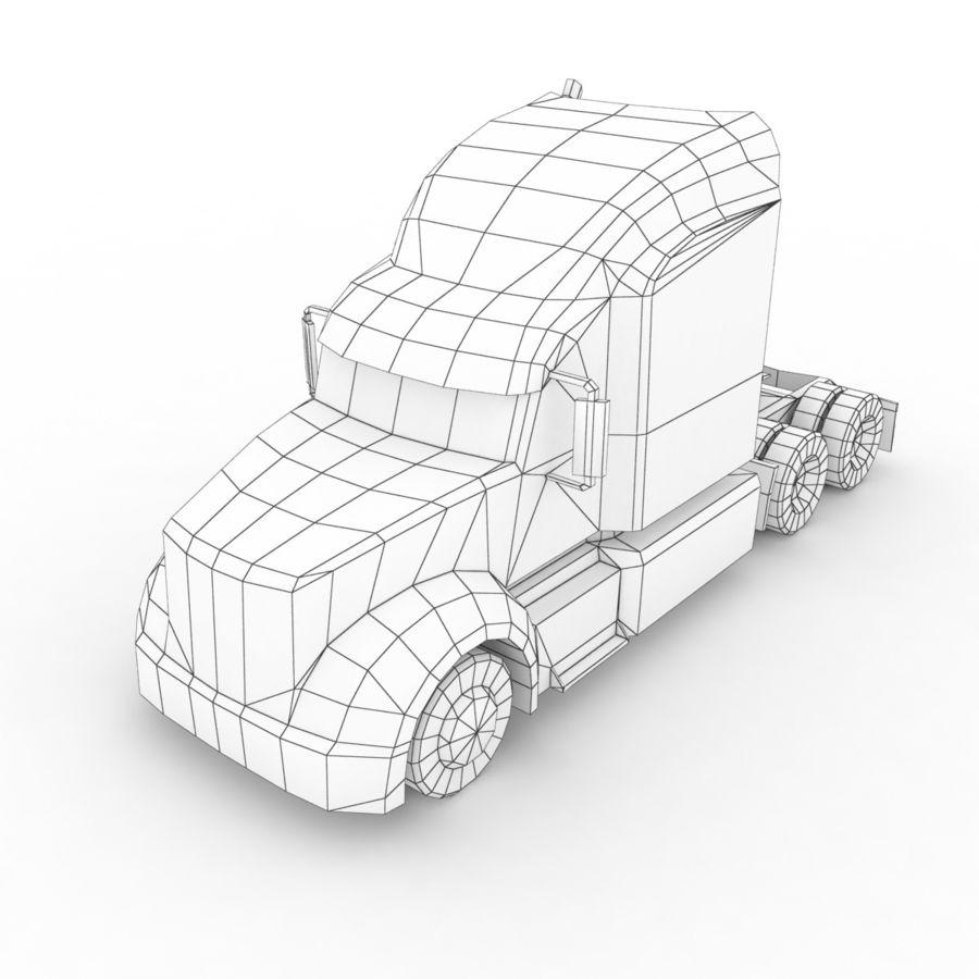 Peterbilt 386 Tanker royalty-free 3d model - Preview no. 12