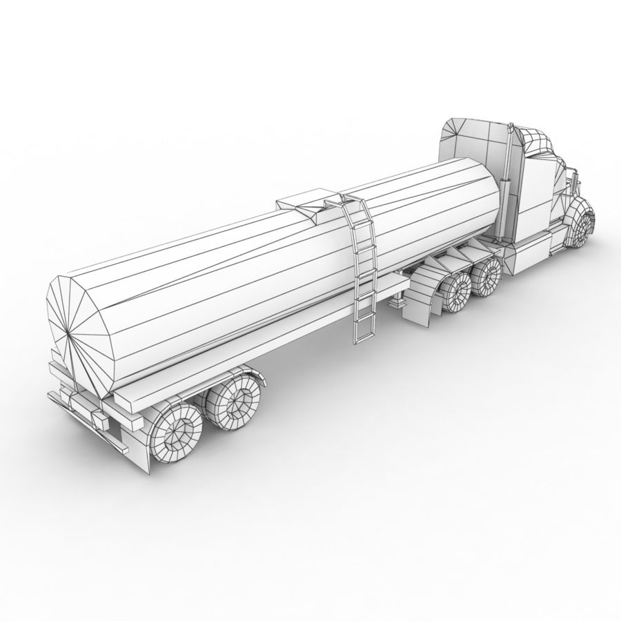 Peterbilt 386 Tanker royalty-free 3d model - Preview no. 11